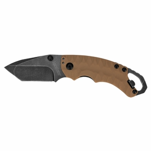 "Kershaw - 2.6"" BlackWash Shuffle II Folder Knife - Tan Glass-Filled Nylon Handle - 8750TTANBW"
