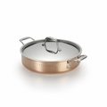 Lagostina Martellata Hammered Copper 5-Qt. Covered Casserole  - Q5544764