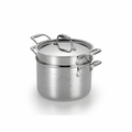 Lagostina Martellata Hammered Stainless Steel 6-Qt. Pastaiola Set w/Lid and Pasta Insert - Q5534864