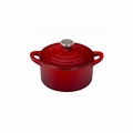 Le Creuset 1/3 Qt. Mini Cocotte with Stainless Steel Knob - Cherry - L2501-10S67