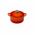 Le Creuset 1/3 Qt. Mini Cocotte with Stainless Steel Knob - Flame - L2501-10S2