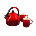 Le Creuset 1.7 Qt. Peruh Kettle and Mug Set - Cherry - Q12-KM3-67