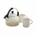 Le Creuset 1.7 Qt. Peruh Kettle and Mug Set - Dune - Q12-KM3-68