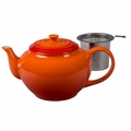 Le Creuset 1 Qt. Large Teapot with Stainless Steel Infuser - Flame - PG0302SS-102