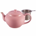 Le Creuset 1 Qt. Large Teapot with Stainless Steel Infuser - Pink - PG0302SS-1019
