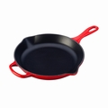 "Le Creuset 10 1/4"" (1 3/4 Qt.) Signature Iron Handle Skillet - Cherry - LS2024-2667"