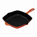 "Le Creuset 10 1/4"" Square Skillet Grill - Flame - L2021-262"