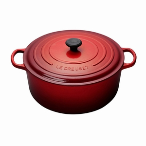 Le Creuset 13 1/4 Qt. Signature Round French Oven - Cherry - LS2501-3467