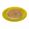 "Le Creuset 15"" Round Platter w/Cutting Board - Soleil/Sun - PG6390CB-371M"