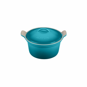 "Le Creuset 18 oz. (6 1/4"") Heritage Covered Cocotte - Caribbean - PG1560-1317"