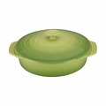 "Le Creuset 2 1/10 Qt. (9 1/2"") Covered Round Casserole - Palm - PG0562S-244P"