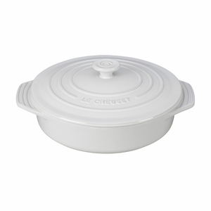 "Le Creuset 2 1/10 Qt. (9 1/2"") Covered Round Casserole - White - PG0562S-2416"
