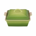 "Le Creuset 2 1/2 Qt. (9"") Heritage Covered Square Casserole - Palm - PG0805-234P"