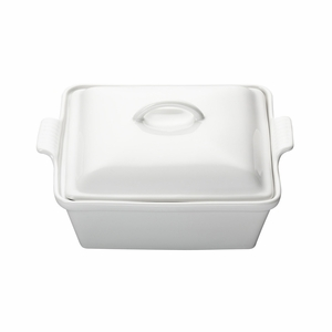 "Le Creuset 2 1/2 Qt. (9"") Heritage Covered Square Casserole - White - PG0805-2316"