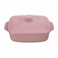 "Le Creuset 2.75 qt. [9.5""] Covered Square Casserole - Hibiscus - PG1357S3A-2414"