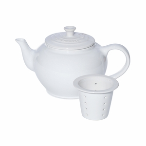 Le Creuset 22 oz. Small Teapot with Infuser - White - PG0302-0816