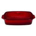 "Le Creuset 3 1/2 Qt. (12 1/2"" x 8 1/2"") Covered Rectangular Casserole - Cherry - PG1148S-3267"