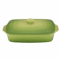 "Le Creuset 3 1/2 Qt. (12 1/2"" x 8 1/2"") Covered Rectangular Casserole - Palm - PG1148S-324P"