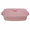 "Le Creuset 3.5 qt. [12.5"" x 8.5""] Covered Rectangular Casserole - Hibiscus - PG1148S3A-3214"