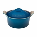 "Le Creuset 3 Qt. (9"") Heritage Covered Round Casserole - Marseille - PG0550-2359"