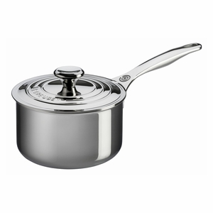 Le Creuset 3 Qt. Saucepan with Lid - Stainless Steel - SSP1100-18