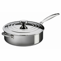 Le Creuset 4.5 Qt. Saut� Pan with Lid & Helper Handle - Stainless Steel - SSP5100-26