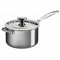 Le Creuset 4 Qt. Saucepan with Lid & Helper Handle - Stainless Steel - SSP1100-20
