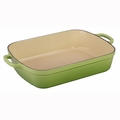 "Le Creuset 5 1/4 Qt. (10"" x 15 3/4"") Signature Rectangular Roaster - Palm - LS2011-334P"