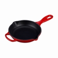 "Le Creuset 6 1/3"" (1/2 Qt.) Signature Iron Handle Skillet - Cherry - LS2024-1667"