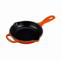 "Le Creuset 6 1/3"" (1/2 Qt.) Signature Iron Handle Skillet - Flame - LS2024-162"