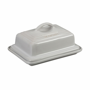 """Le Creuset 6 3/4"""" x 5"""" Heritage Butter Dish - White - PG0307-1716"""