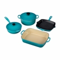 Le Creuset 6 Piece Signature Set - Caribbean - MS1406-17