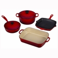 Le Creuset 6 Piece Signature Set - Cherry - MS1406-67