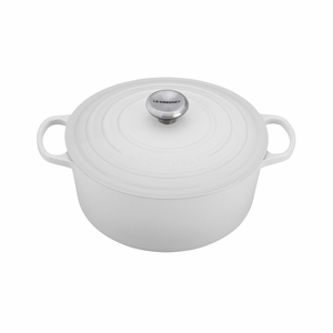 Le Creuset 7 1/4 Qt. Signature Round French Oven - White - LS2501-2816SS