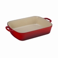 "Le Creuset 7 Qt. (11 1/4"" x 17 1/2"") Signature Rectangular Roaster - Cherry - LS2011-3767"