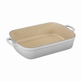 "Le Creuset 7 qt. (13"" x 19"") Large Rectangular Roaster - White - LS2011-3716"