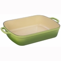 "Le Creuset 7 Qt. (11 1/4"" x 17 1/2"") Signature Rectangular Roaster - Palm - LS2011-374P"