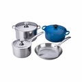 Le Creuset 7PC Stainless Steel & Enameled Cast Iron Cookware Set - Marseille  - SS14SS7-59