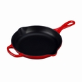 "Le Creuset 9"" (1 3/8 Qt.) Signature Iron Handle Skillet - Cherry - LS2024-2367"