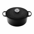 Le Creuset 9 Qt. Signature Round French Oven - Black - LS2501-3031SS