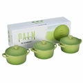 Le Creuset Mini Cocotte Gift Set - Set of 3 Solids (8 oz. each) - Palm - PG1163-084P
