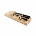 Messermeister - 11 Slot In Drawer Knife Holder - Beechwood - DKH-11/BW