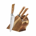 Messermeister Oliva Elite - 5 Pc Gourmet Knife Block Set - E/6000-5S