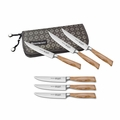 Messermeister Oliva Elite - 6 Pc Multi-Edge Steak Knife Set in Pouch - E6683-4/6P