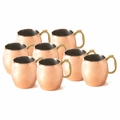 Moscow Mule Polished Finish Copper Mug w/Deluxe Brass Handle - 16oz - Set of 8 - 700302-8PK