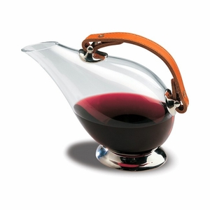"Peugeot Cordoba Duck Decanter - Glass with Leather Handle - 6.75""/26 oz. - 230074"