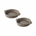 Revol Les Naturels Set of 2 Tartlet Pans - 5 oz. - Sesame Grey - 647711