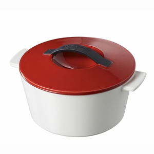 Revol Revolution .25 Qt Round Cocotte w/Lid - Pepper Red - 642458