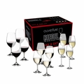 Riedel Ouvertur-e Red/White Magnum and Champagne Pay 8 Get 12 Glasses - Set of 12 - 5408/92