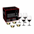 "Riedel Vinum Cabernet Sauvignon/Merlot/Bordeaux and ""O"" Viognier/Chardonnay Pay 4 Get 8 Glasses - Set of 8 - 5416/59"